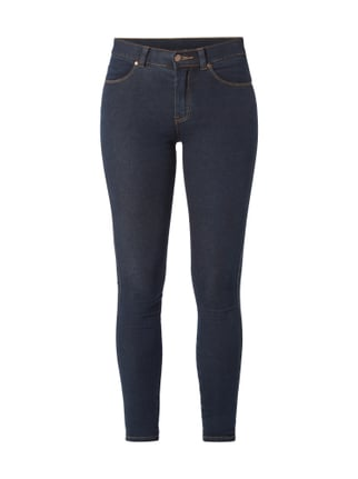 Coloured High Waist Second Skin Fit Jeans Blau / Türkis - 1