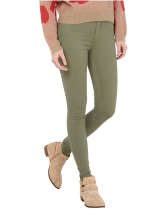 Dr. Denim Coloured High Waist Second Skin Fit Jeans Olivgrün - 1