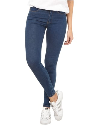 Dr. Denim Coloured High Waist Second Skin Fit Jeans Petrol - 1