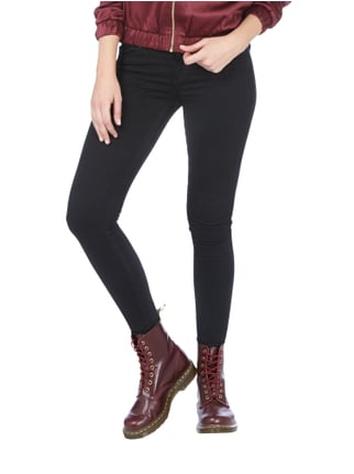 Dr. Denim Coloured Low Rise Skin Tight Fit Jeans Schwarz - 1