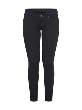 Coloured Low Rise Skin Tight Fit Jeans Grau / Schwarz - 1