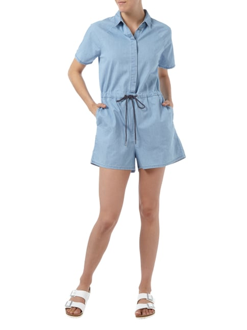 Dr. Denim Jumpsuit mit Umlegekragen in Blau / Türkis - 1