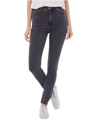 Dr. Denim Skinny Fit 5-Pocket-Jeans im Washed Out-Look Dunkelgrau - 1