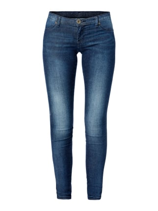 Stone Washed Jeggings Blau / Türkis - 1
