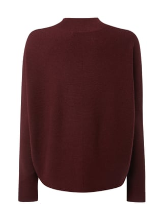 Drykorn Boxy Fit Strickpullover aus Schurwolle Bordeaux Rot - 1