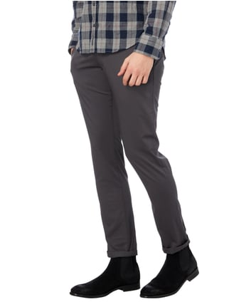 Drykorn Chino mit Stretch-Anteil Anthrazit - 1