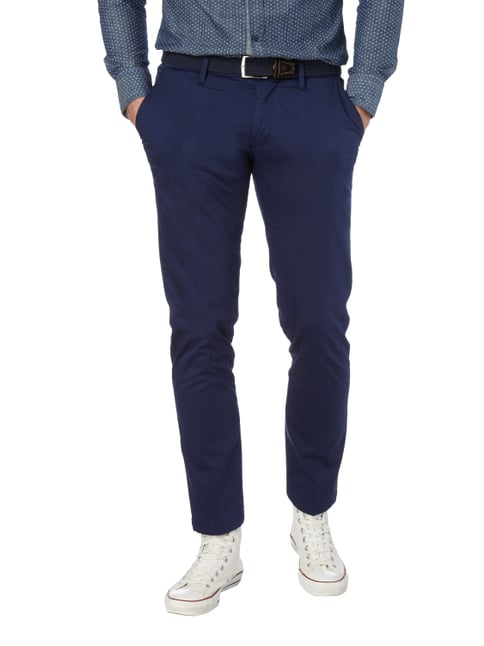 Drykorn Chino mit Stretch-Anteil Royalblau - 1
