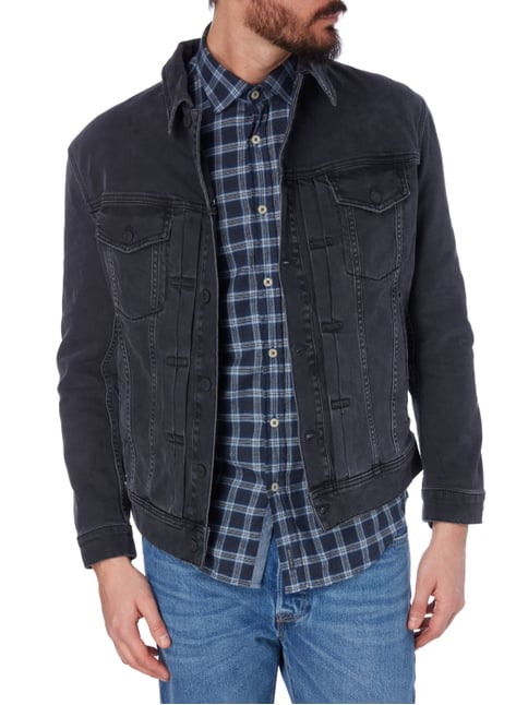 Drykorn Jeansjacke im Used Look Anthrazit - 1