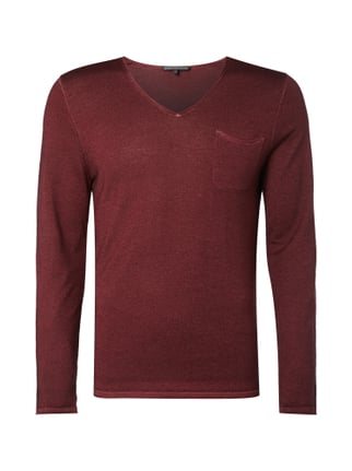 Pullover mit Washed Out-Effekten Rot - 1
