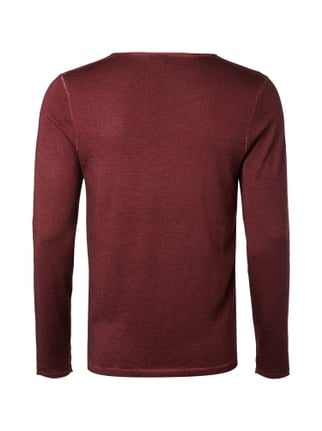 Drykorn Pullover mit Washed Out-Effekten Bordeaux Rot - 1