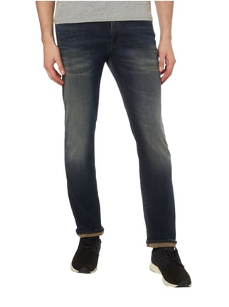 Drykorn Sand Washed Slim Fit Jeans Marineblau meliert - 1