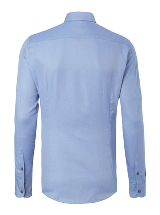 Drykorn Slim Fit Business-Hemd mit Webmuster Bleu - 1