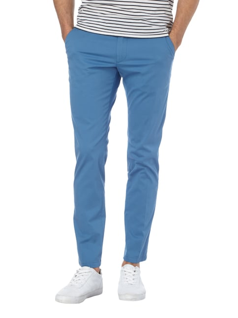 Drykorn Slim Fit Chino mit Stretch-Anteil Hellblau - 1