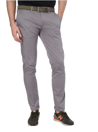 Drykorn Slim Fit Chino mit Stretch-Anteil Stein - 1