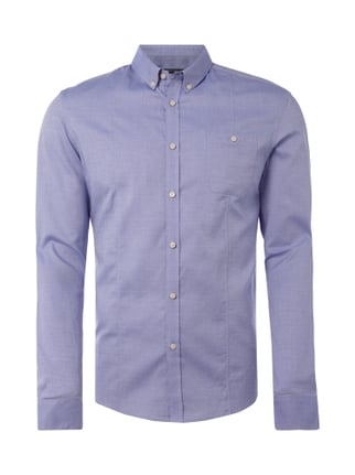 Slim Fit Hemd mit Button-Down-Kragen Blau / Türkis - 1