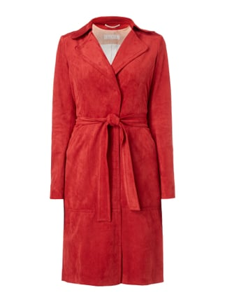 Trenchcoat in Velourslederoptik Rot - 1