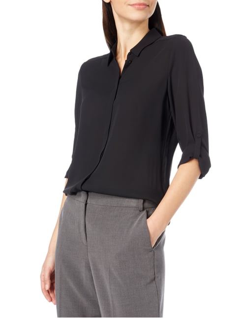 Esprit Collection Bluse mit regulierbarer Ärmellänge Schwarz - 1