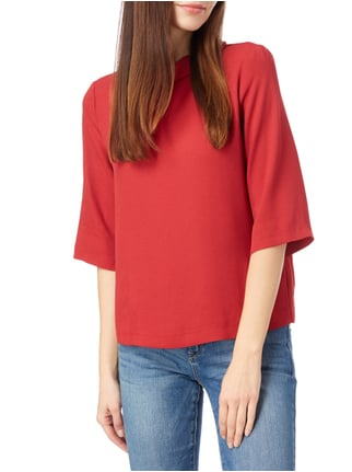 Esprit Collection Blusenshirt mit Rollkragen Dunkelrot - 1
