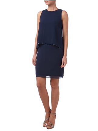 Esprit Collection Cocktailkleid aus Chiffon im Double-Layer-Look in Blau / Türkis - 1
