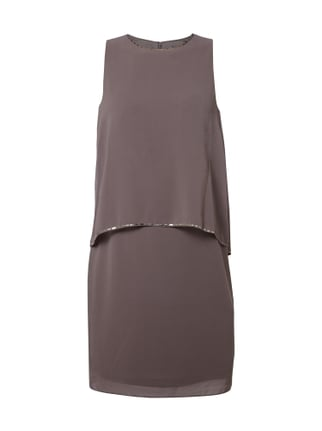 Cocktailkleid aus Chiffon im Double-Layer-Look Braun - 1
