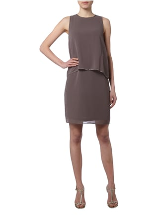 Esprit Collection Cocktailkleid aus Chiffon im Double-Layer-Look in Braun - 1