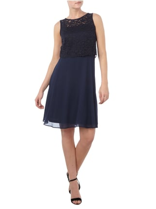 Esprit Collection Cocktailkleid im Rock-Top-Look in Blau / Türkis - 1