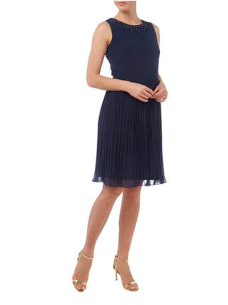 Esprit Collection Cocktailkleid mit Blüten-Applikationen in Blau / Türkis - 1