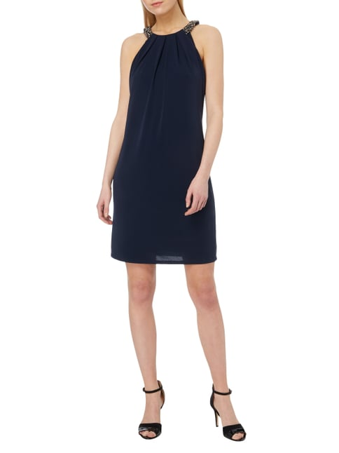 Esprit Collection Cocktailkleid mit Collierkragen in Blau / Türkis - 1