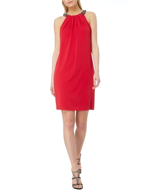 Esprit Collection Cocktailkleid mit Collierkragen in Rot - 1