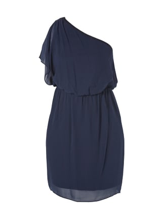 Cocktailkleid mit One-Shoulder-Träger Blau / Türkis - 1