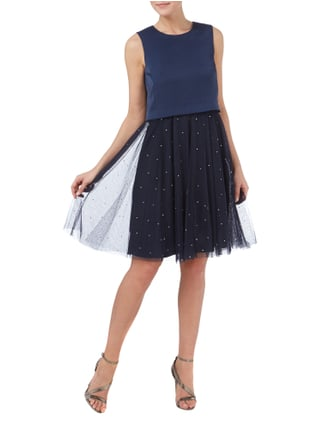 Esprit Collection Cocktailkleid mit Ziersteinbesatz in Blau / Türkis - 1
