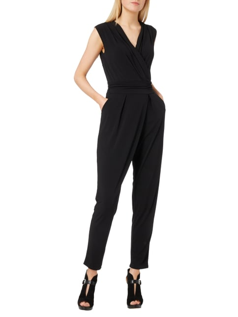 Esprit Collection Jumpsuit in Wickeloptik in Grau / Schwarz - 1