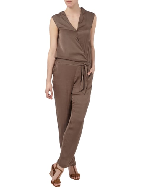 Esprit Collection Jumpsuit mit Oberteil in Wickeloptik in Braun - 1