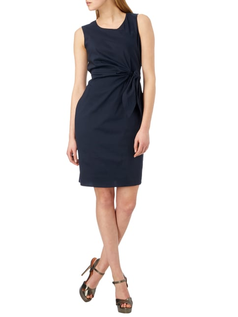 Esprit Collection Kleid mit Band zum Binden in Blau / Türkis - 1
