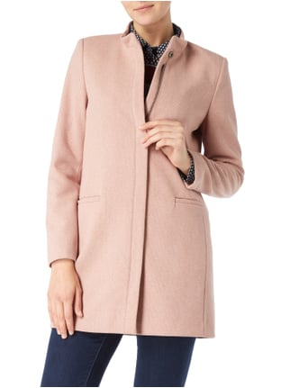Esprit Collection Kurzmantel mit Fischgrat-Dessin Rosé - 1