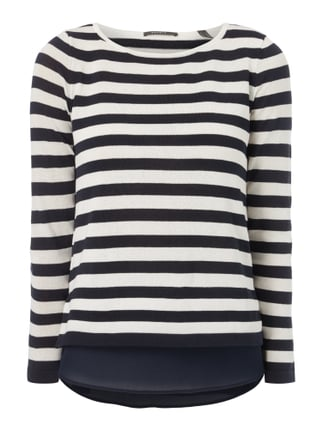 Pullover im Double-Layer-Look Blau / Türkis - 1