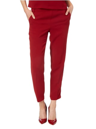 Esprit Collection Stoffhose aus Krepp Bordeaux Rot - 1