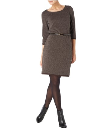 Esprit Collection Sweatkleid in Melangeoptik in Braun - 1