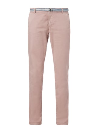 Relaxed Fit Chino mit Gürtel Rosé - 1