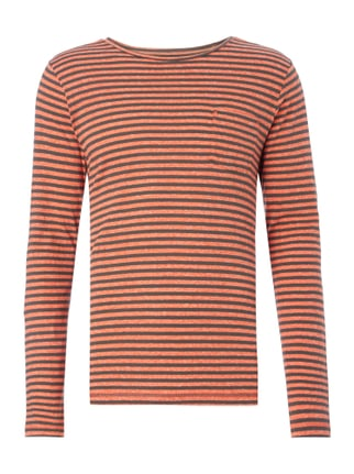 Slim Fit Longsleeve mit Brusttasche Orange - 1