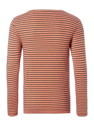 Esprit Slim Fit Longsleeve mit Brusttasche Orange - 1