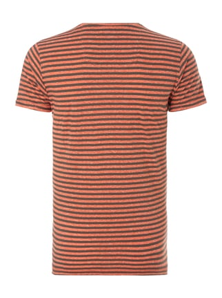 Esprit Slim Fit T-Shirt mit Streifenmuster Orange - 1