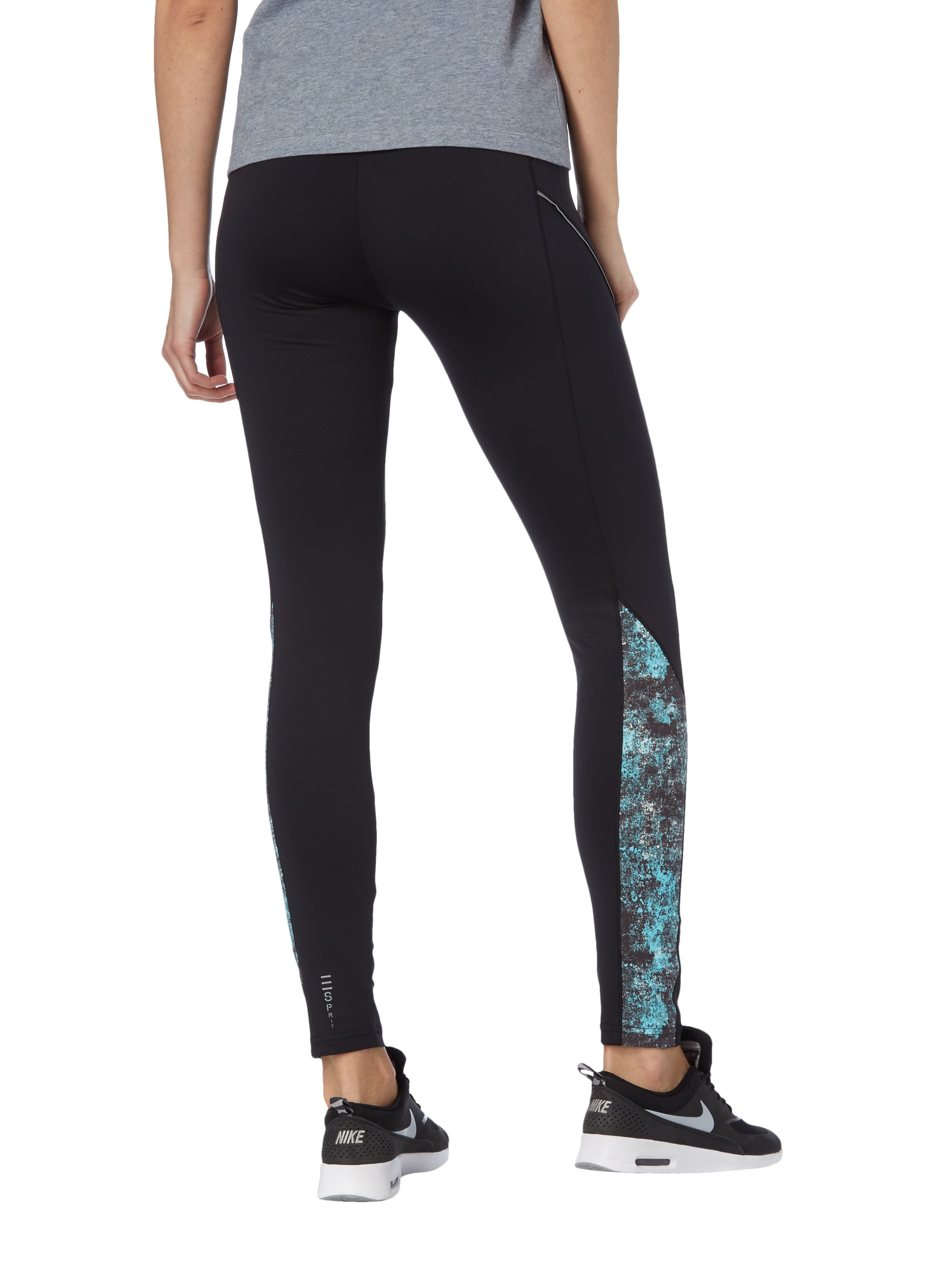 esprit sport leggings mit reflektorstreifen in grau schwarz online kaufen 9591558 p c. Black Bedroom Furniture Sets. Home Design Ideas