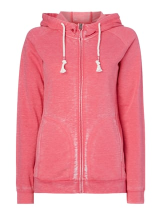 Sweatjacke im Washed Out Look Rosé - 1