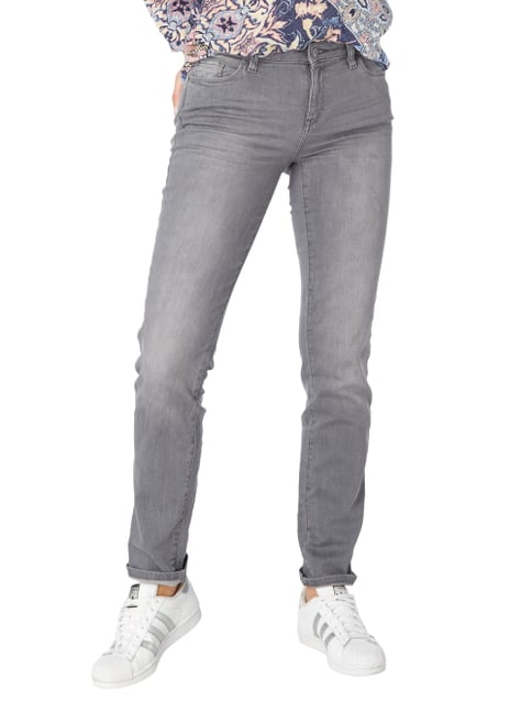Esprit Stone Washed Straight Fit Jeans Mittelgrau - 1