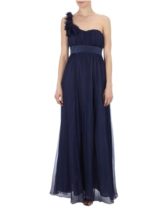 Fever London One-Shoulder-Abendkleid aus reiner Seide in Blau / Türkis - 1