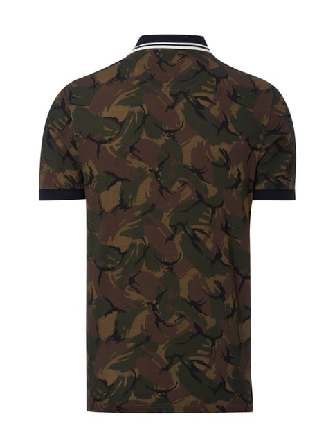 Fred Perry Poloshirt mit Camouflage-Muster Olivgrün - 1
