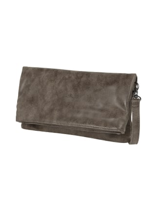 Clutch in Vintage-Optik mit abnehmbarem Crossbodyriemen Braun - 1