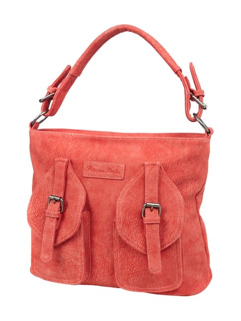 Hobo Bag in Lederoptik Rot - 1