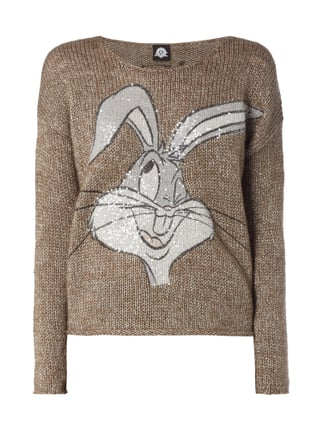 Oversized Pullover mit Bugs Bunny-Print Braun - 1
